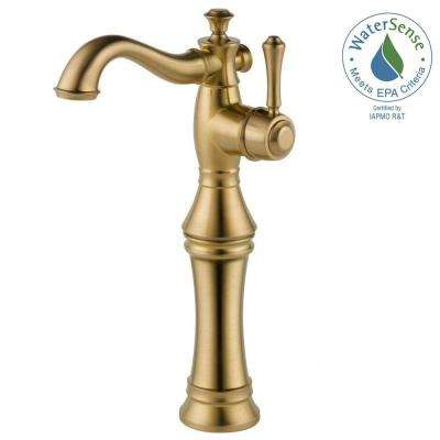 Cassidy Single Hole Single-Handle Vessel Bathroom Faucet in Champagne Bronze