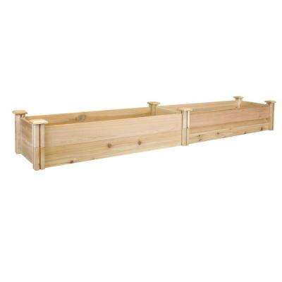 16 in. x 96 in. x 11 in. Premium Cedar Raised Garden Bed