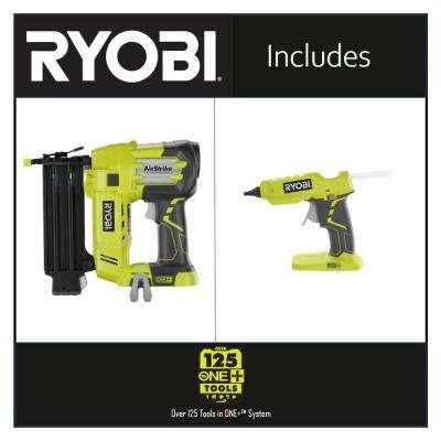 18-Volt ONE+ Cordless AirStrike 18-Gauge Brad Nailer and 18-Volt ONE+ Hot Glue Gun 2-Tool Combo Kit