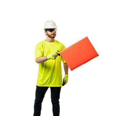 Unisex Large Hi-Vis Yellow Short-Sleeve Safety Shirt