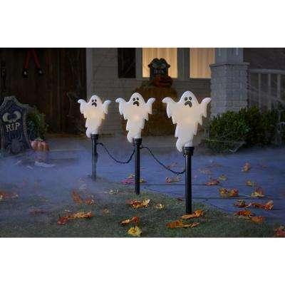 Flickering Ghosts Halloween Pathway Markers (3-Count)