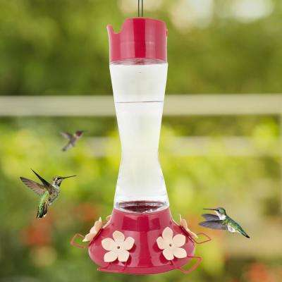 Top-Fill Pinch Waist Glass Hummingbird Feeder - 20 oz. Capacity