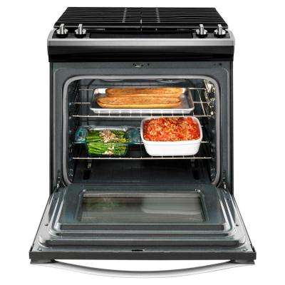 30 in. 5.0 cu. ft. Slide-In Gas Range in Stainless Steel