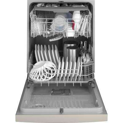 24 in. Front Control Tall Tub Dishwasher in Stainless Steel and Steam Prewash, 50 dBA