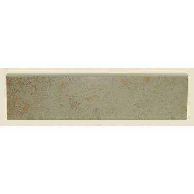Brixton Bone 3 in. x 12 in. Glazed Ceramic Bullnose Wall Tile