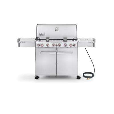Summit S-670 6-Burner Stainless Steel Natural Gas Grill