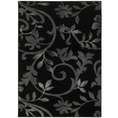 Grace Black 7 ft. 9 in. x 9 ft. 5 in. Plush Indoor Area Rug