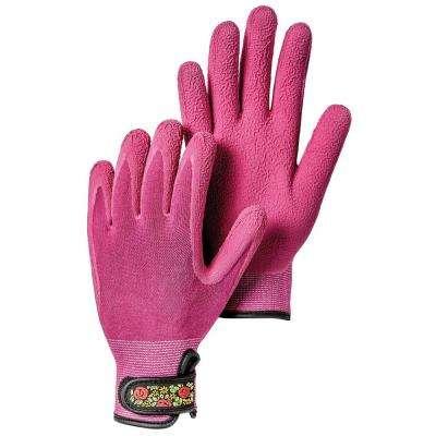Garden Bamboo Spandex Fuchsia Gloves