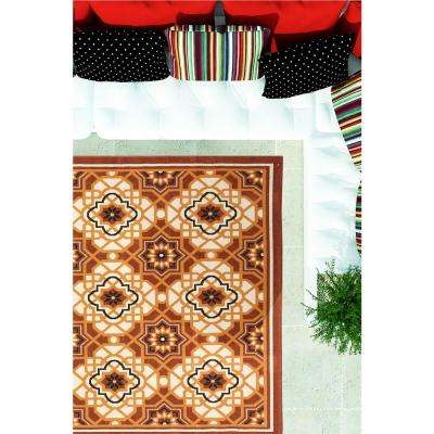 Tropicana Cream, Dark Copper 5 ft. x 7 ft. Area Rug