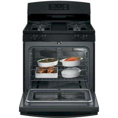 30 in. 5.0 cu. ft. Gas Range with Self Cleaning Oven in Black