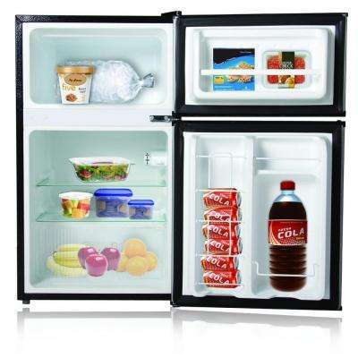 3.1 cu. ft. Double Door Mini Refrigerator/Freezer in Stainless Steel