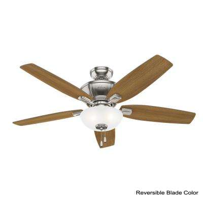 Kenbridge 52 in. LED Indoor Brushed Nickel Ceiling Fan