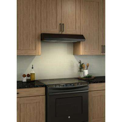 Sahale Deluxe 36 in. Convertible Under Cabinet Range Hood with Light in Black