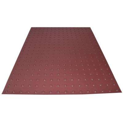 PowerBond 36 in. x 4 ft. Colonial Red ADA Warning Mat (Peel and Stick)