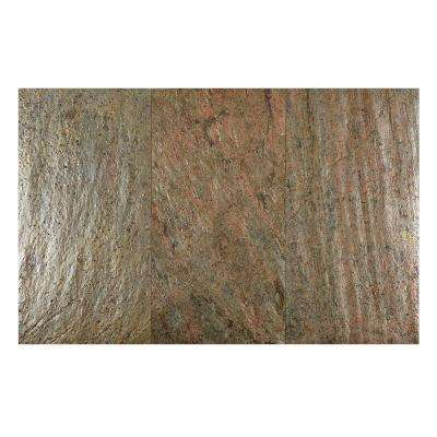 Copper 12 in. x 24 in. Slate Peel and Stick Wall Tile (6 sq. ft. / pack)