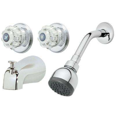 2-Handle 1-Spray Tub and Shower Faucet in Chrome