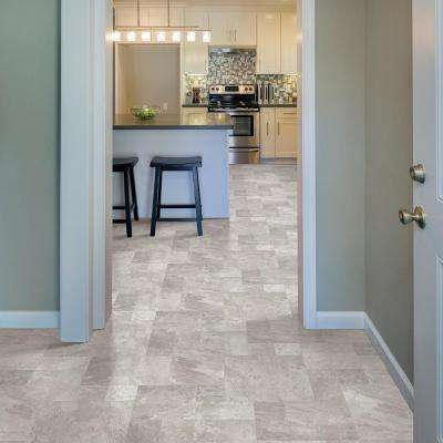 Quarry Stone Slate Grey Residential Vinyl Sheet, Sold by 13.2 ft. Wide x Custom Length