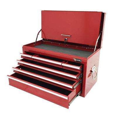 26.3 in. 6-Drawer Steel Top Chest, Red