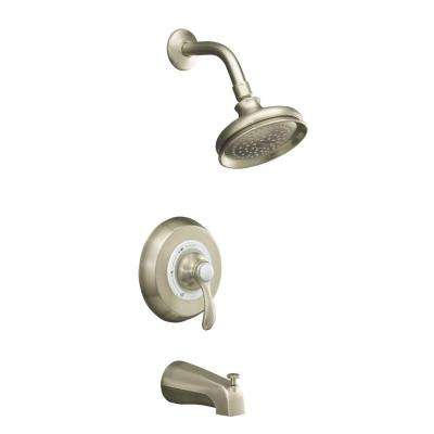 Fairfax Rite-Temp Bath and Shower Faucet Trim with Lever Handle in Vibrant Brushed Nickel (Valve Not Included)