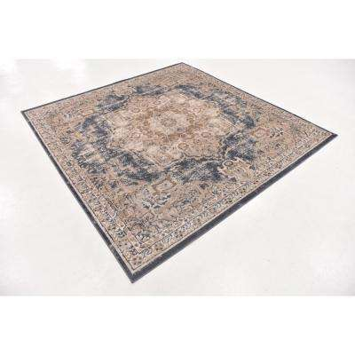 Chateau Roosevelt Dark Blue 7' 0 x 7' 0 Square Rug