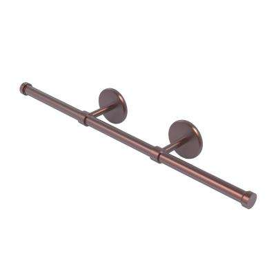 Prestige Skyline Collection Wall Mounted Horizontal Guest Towel Holder in Antique Copper