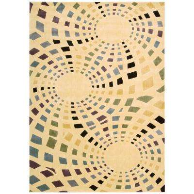 Parallels Ivory 2 ft. 3 in. x 3 ft. 9 in. Area Rug