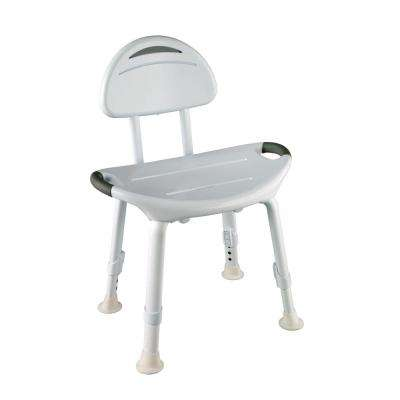 15-3/4 in. x 6 in. Adjustable Designer Bathtub and Shower Safety Seat in White