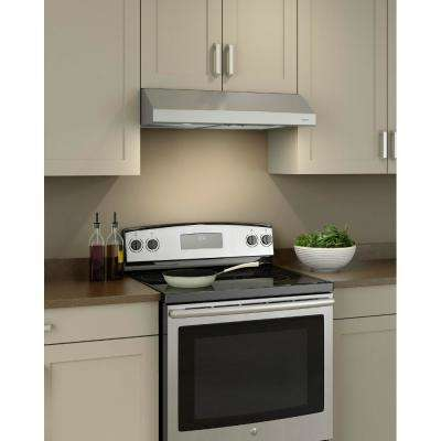 Glacier 36 in. Convertible Under Cabinet Range Hood with Light in Stainless Steel
