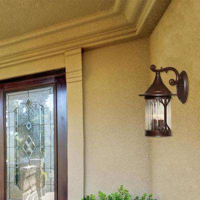 Canyon Lake 3-Light Chestnut Outdoor Wall-Mount Lantern