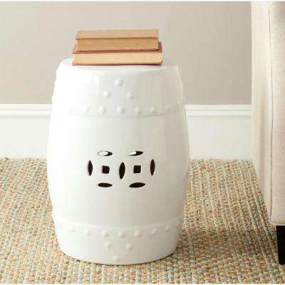 Modern Ming White Garden Patio Stool