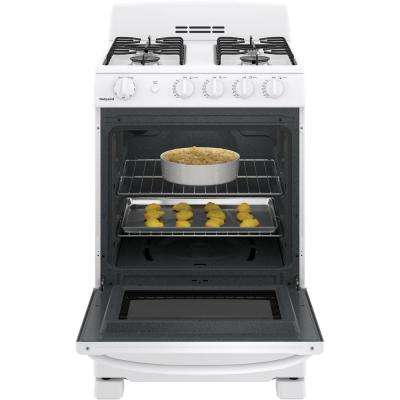 Hotpoint 24 in. 2.9 cu. ft. Gas Range Oven  in White