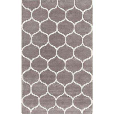 Huedin Taupe 3 ft. 6 in. x 5 ft. 6 in. Indoor Area Rug