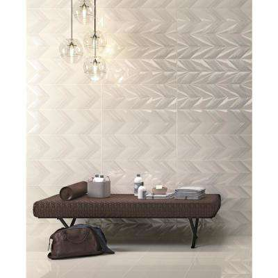 Vertigo Gray Matte 9.84 in. x 29.53 in. Ceramic Wall Tile (14.126 sq. ft. / case)