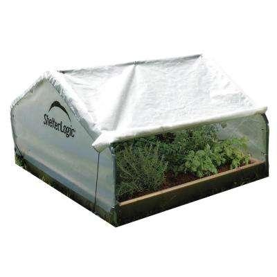 GrowIt 4 ft. W x 4 ft. D x 2 ft. H Peak Raised Greenhouse