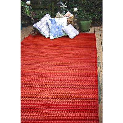 Cancun Indoor/Outdoor Sunset 6 ft. x 9 ft. Area Rug