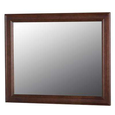 Annakin 31.4 in. W x 25.6 in. H Wall Mirror in Cognac