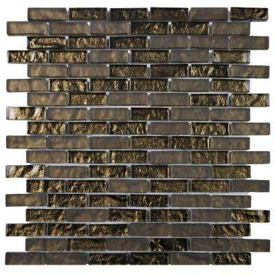 Tessera Subway Empire 11-3/4 in. x 11-3/4 in. x 8 mm Glass Mosaic Tile