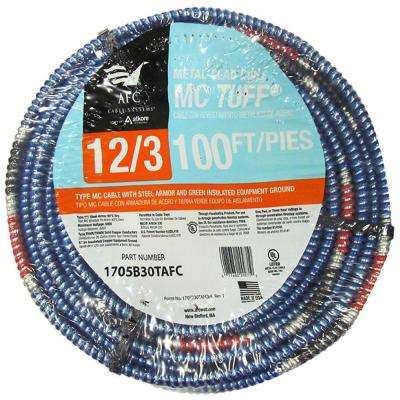 12/3 x 100 ft. Solid MC Tuff Cable