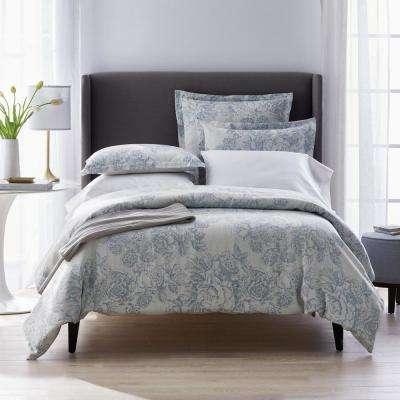 Marta Floral Reversible Cotton Linen Blend Duvet Cover