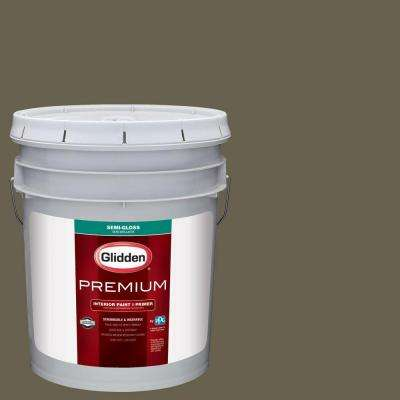 5 gal. #HDGWN65 Bronzed Ivy Semi-Gloss Interior Paint with Primer