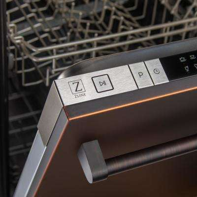 24 in. Top Control Dishwasher in Oil-Rubbed Bronze with Stainless Steel Tub and Traditional Style Handle