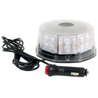 LED Low-Profile Emergency Alert Beacon with Clear Lens and Amber Lights