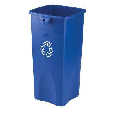 Untouchable 23 Gal. Blue Square Recycling Container