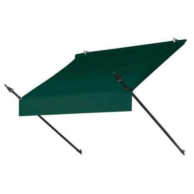 4 ft. Designer Manually Retractable Awning (36.5 in. Projection) in Forest Green