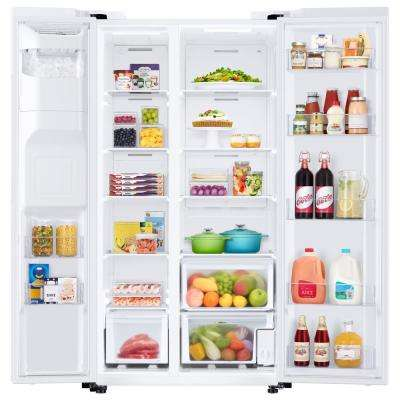 27.4 cu. ft. Side by Side Refrigerator in White