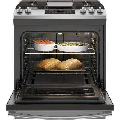 5.3 cu. ft. Slide-In Gas Range with Steam-Cleaning Oven in Stainless Steel