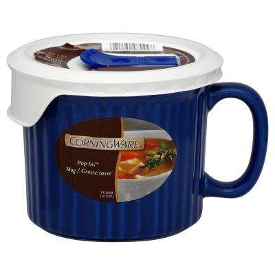 French White 20-Oz Blueberry Mug with Lid