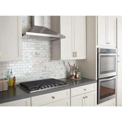 Contemporary Wall Mount Range Hood In Stainless Steel