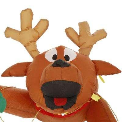 4 ft. Inflatable Airblown Gutter Hanging Reindeer