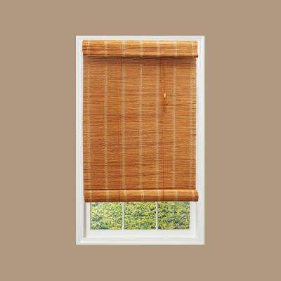 Nutmeg Simple Weave Roll Up Bamboo Shade - 72 in. L